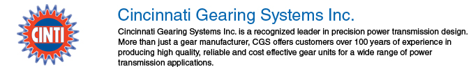 Cincinnati Gearing Systems Inc.