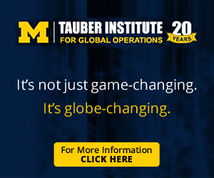 Tauber Institute for Global Operations at University of Michigan